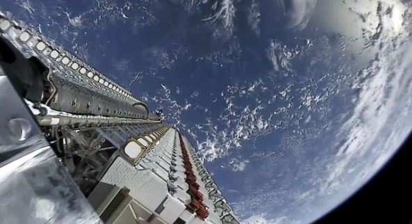 Mass of a Starlink satellite