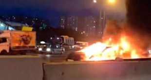 Tesla investigates the causes of an electric car explosion after an accident in Moscow