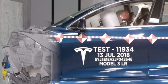Tesla shows its laboratory where it destroys its electric cars for the sake of safety.