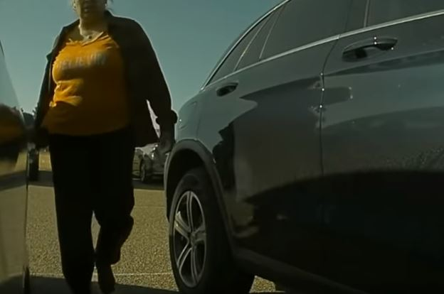 A lady scratches a Tesla Model 3 and the car records it. After watching her video going viral she surrendered to police